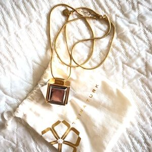 Trina Turk Long Pyramid Cube Pendant Necklace